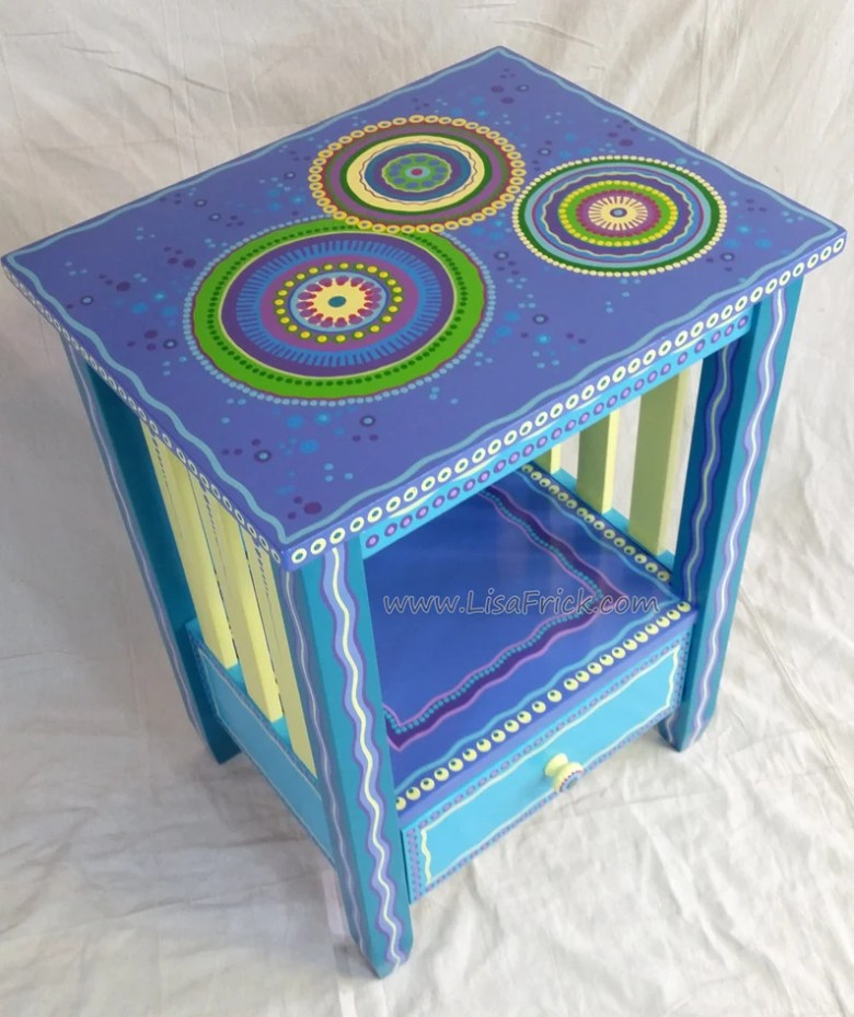 Custom Painted End Table by LisaFrick