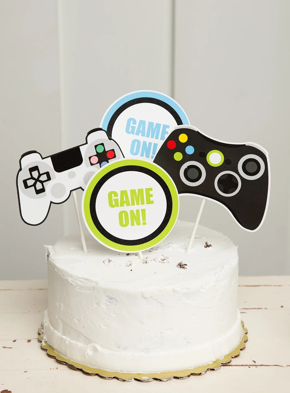 Video Game Cake Toppers Video Game Theme Game Party Etsy