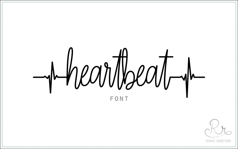 Heartbeat Font Download Otf Ttf Open Type Fonts