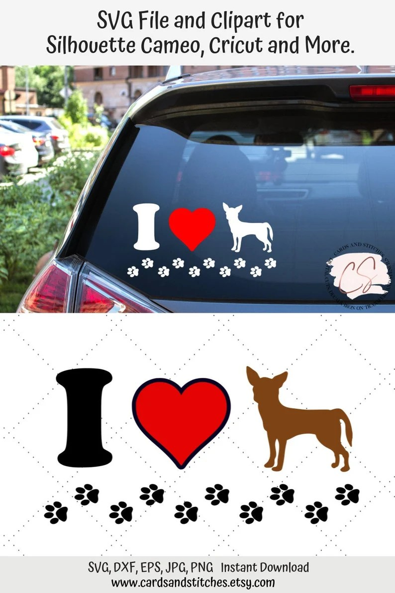 Download Chihuahua SVG Love Dogs SVG Chihuahua Lover SVG Digital | Etsy