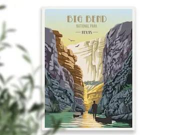 big bend poster etsy