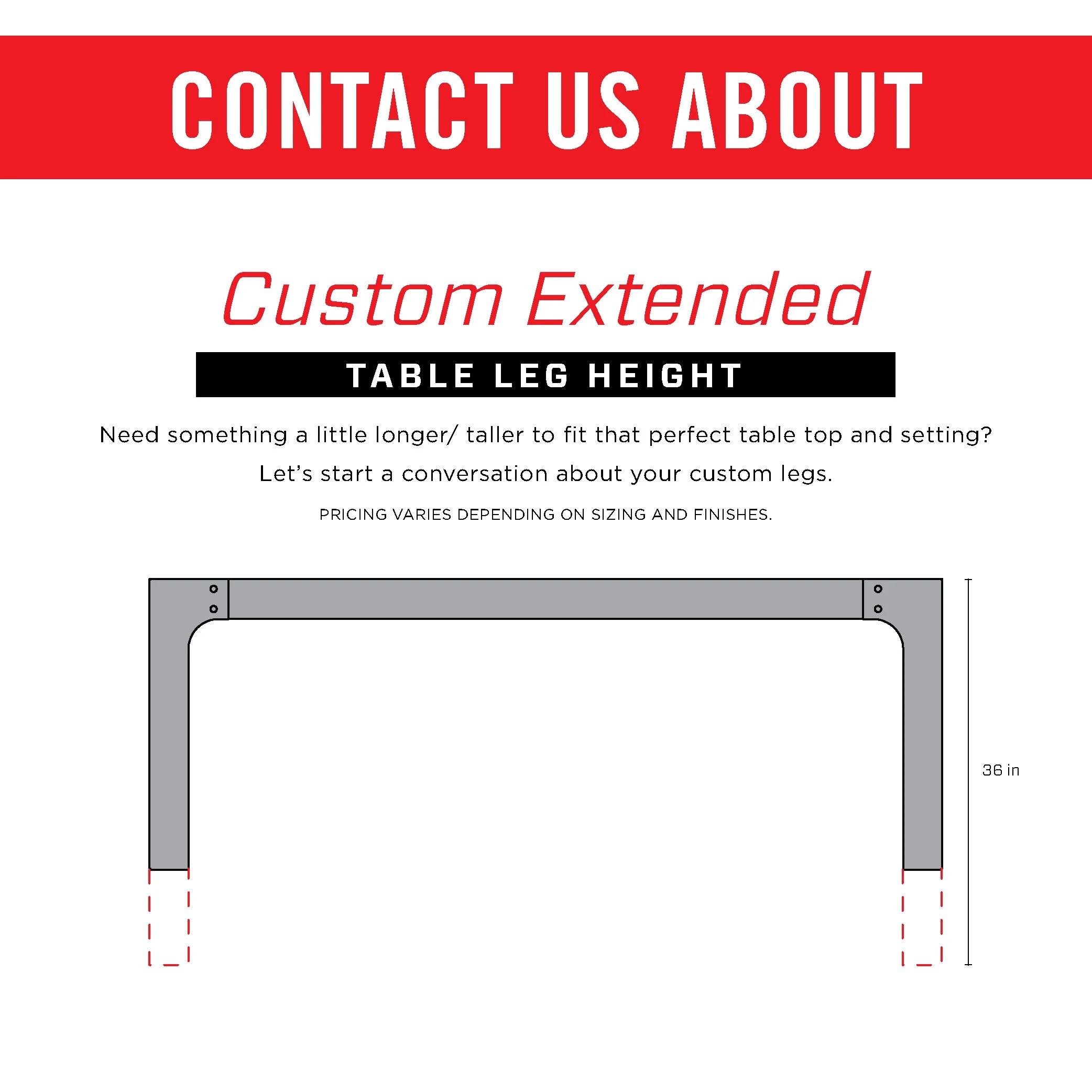 Industrial Bar Table Legs Steel Metal Base 41 Inches Tall Custom Orders Bench Dining Desk Kitchen Modern Contemporary Handmade