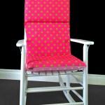 Pink Lime Polka Dot Rocking Chair Cushion Etsy