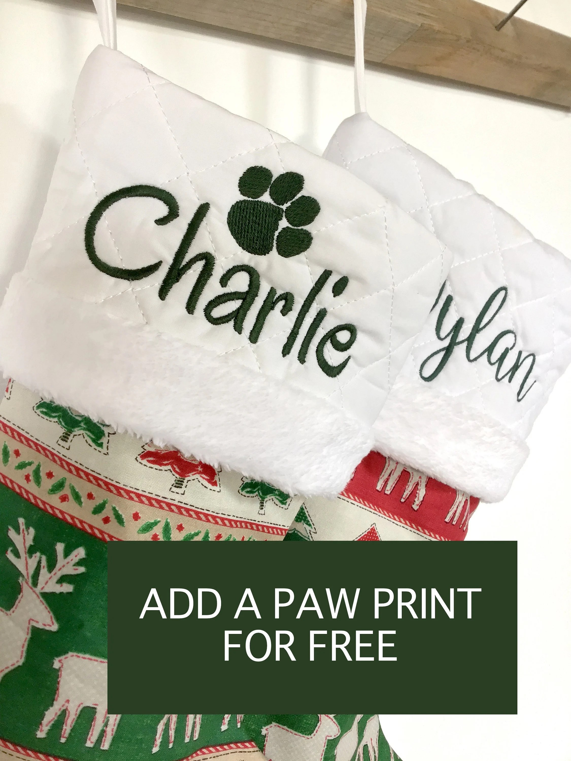 Red & Green Collection Personalized Christmas Stocking  image 8
