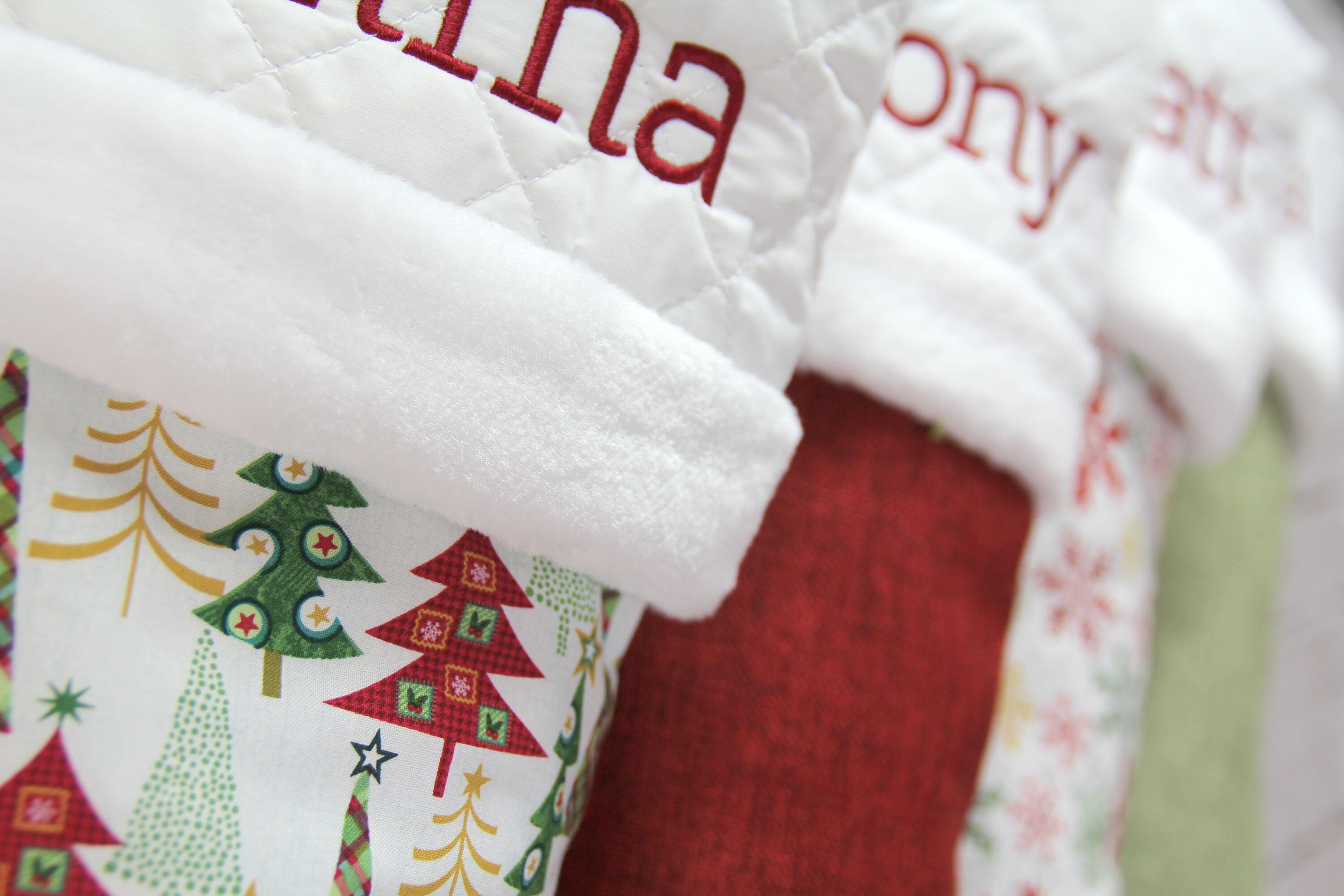 Red & Green Collection Personalized Christmas Stocking  image 2