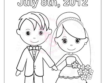 bride and groom coloring pages # 88