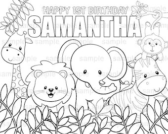 jungle coloring page # 91