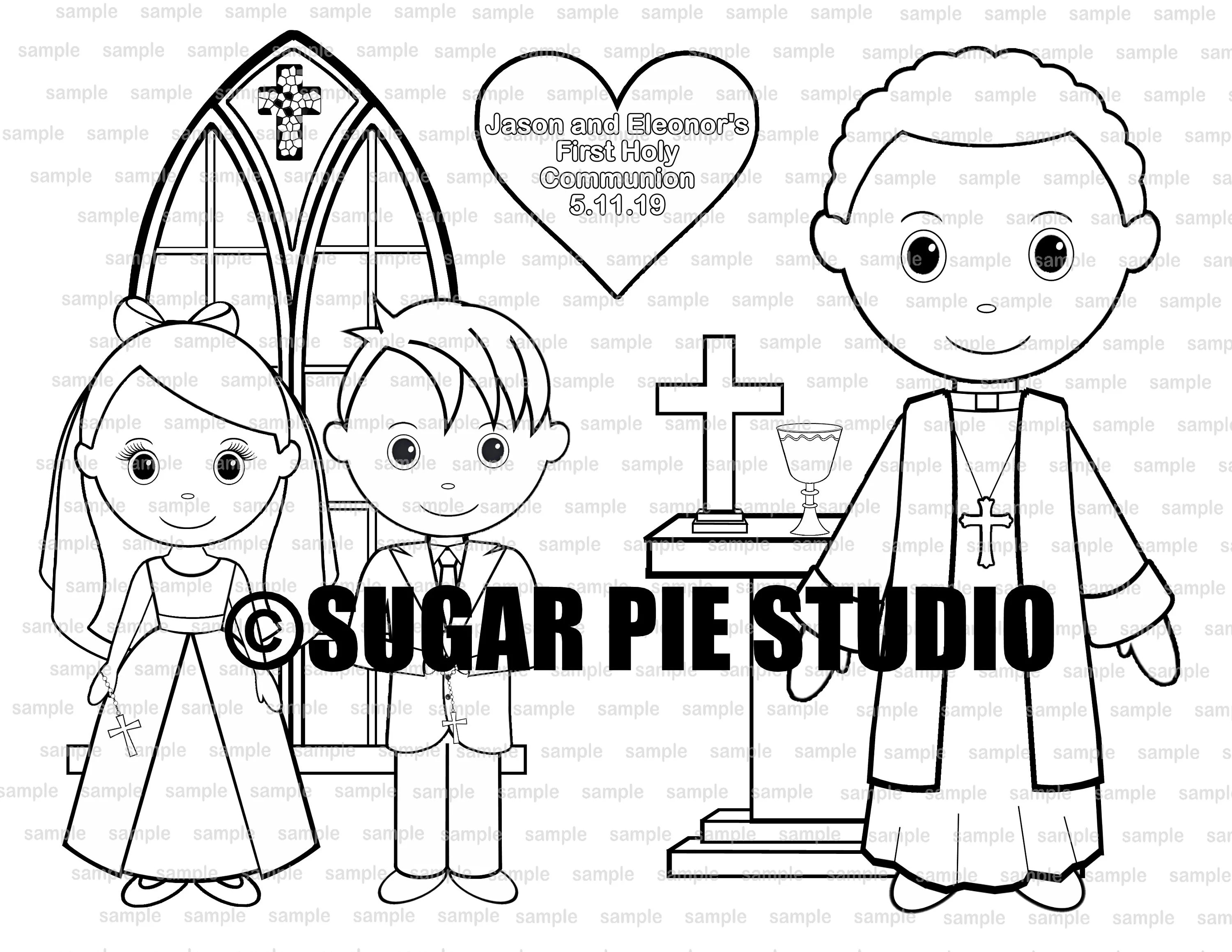 Communion Coloring Activity Page Or Template