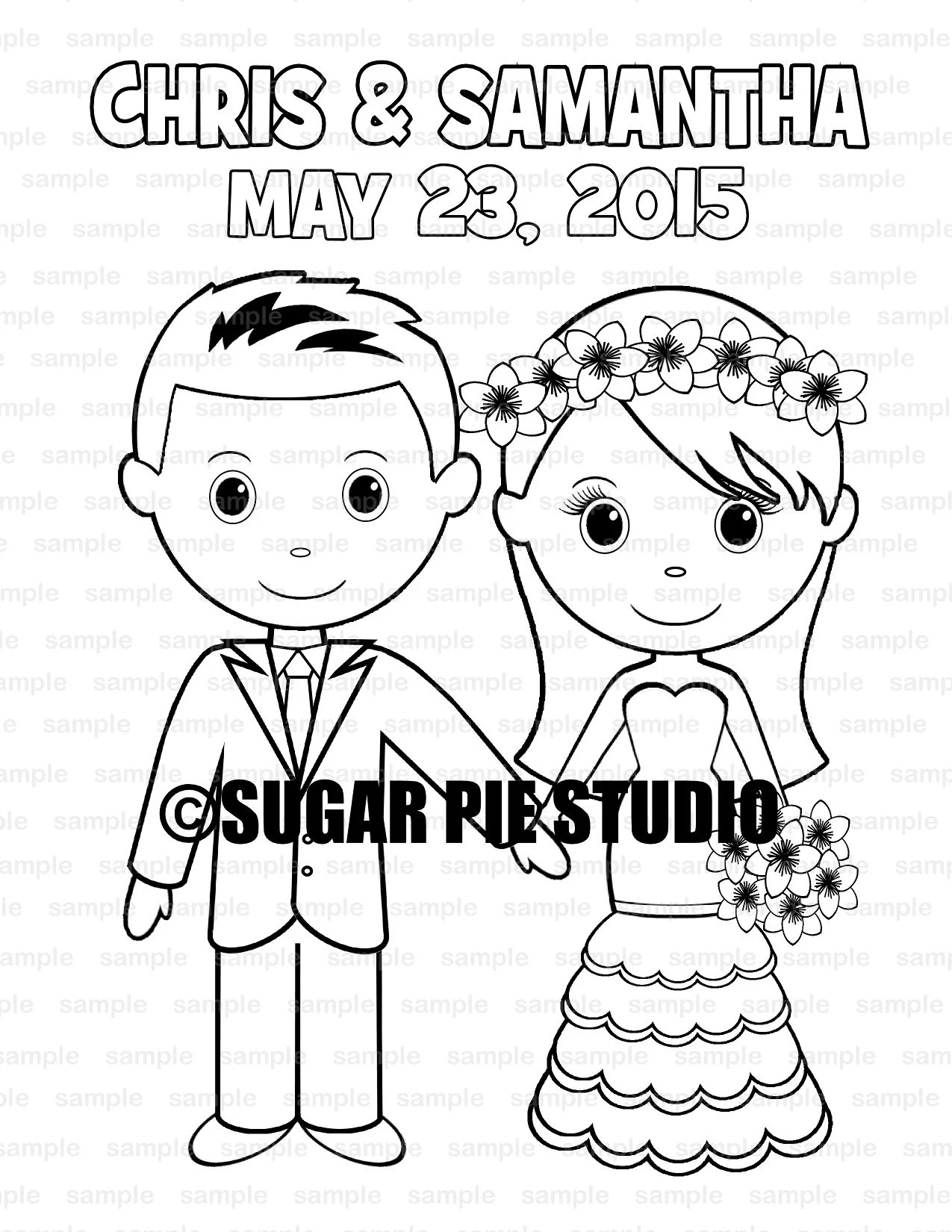 Wedding Coloring Book Activity Favor Kids 8 5 X 11 Or