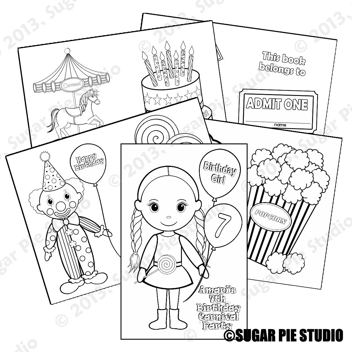 Carnival Coloring Activity Goody Bags Or Template