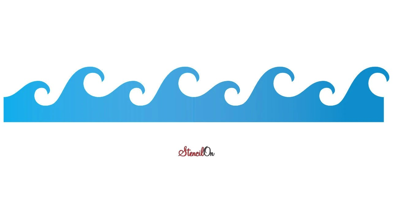 Wave Stencils Walls