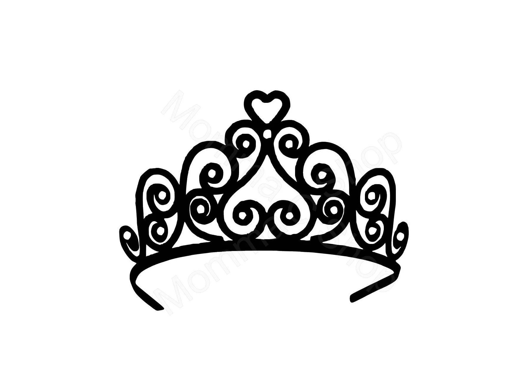 Tiara Crown Instant Svg Digital Download One Color File