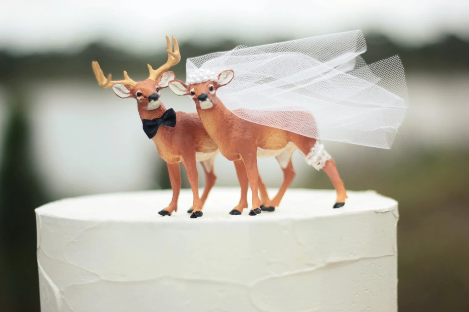Deer wedding cake topper Hunting wedding cake topper Deer   Etsy image 0
