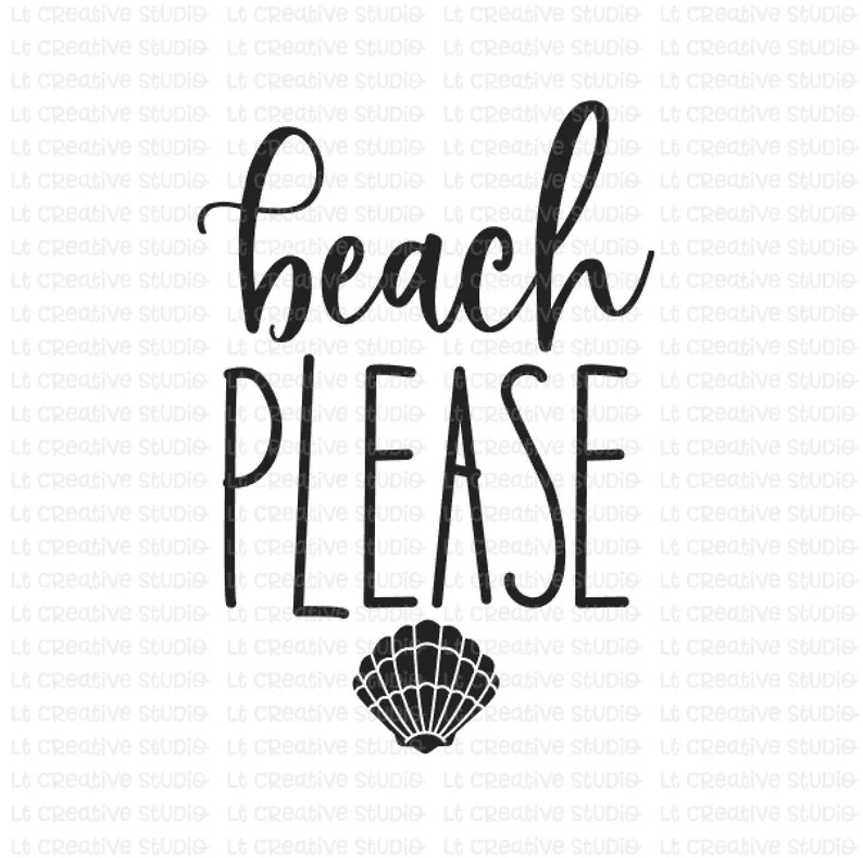 Download Beach Please SVG Beach Please SVG Files Cricut Files | Etsy