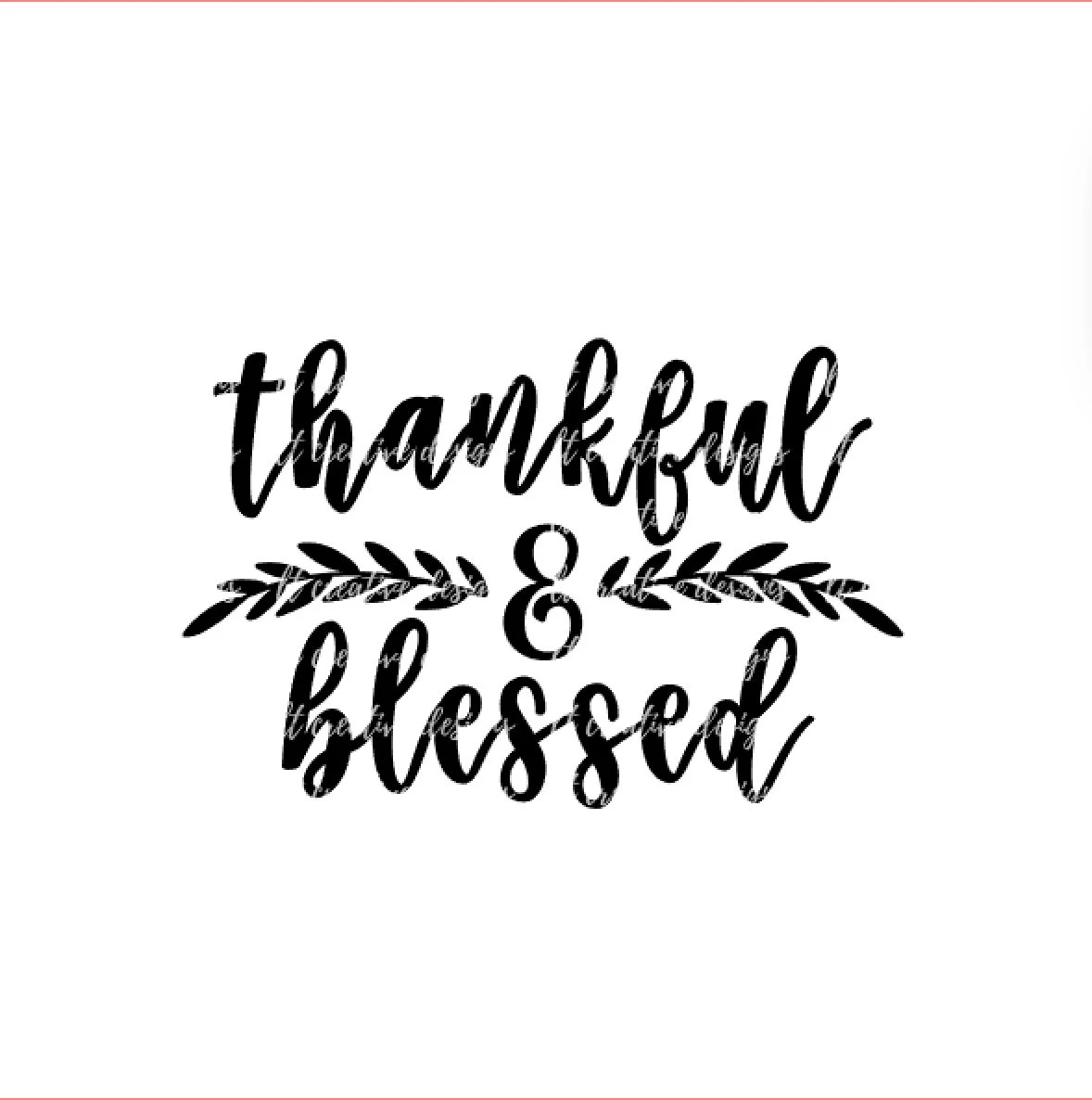 Thankful And Blessed Svg Fall Svg Autumn Svg Thanksgiving