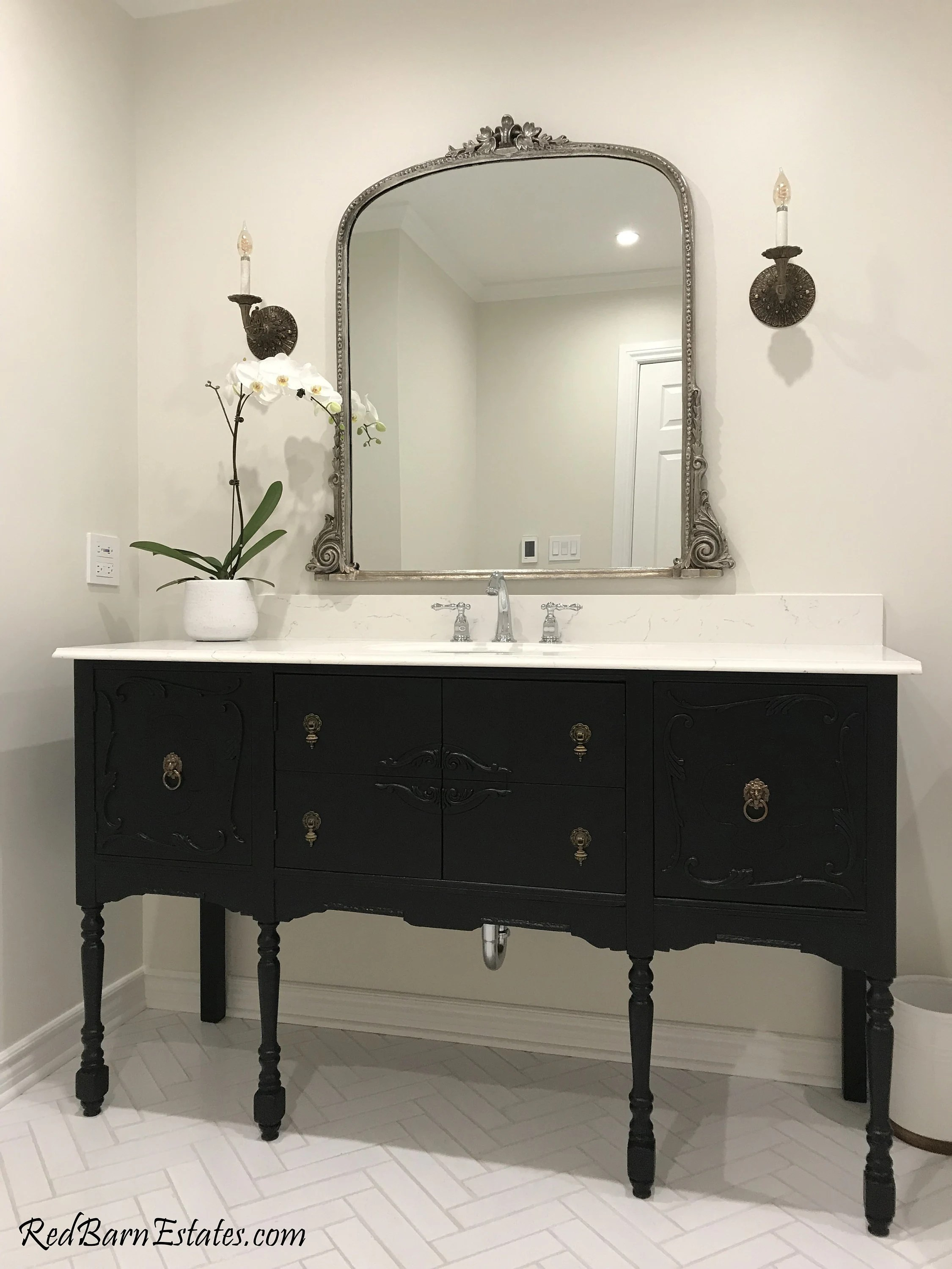 antique bathroom vanity for single or double sink we custom convert from antique furniture for you reno remodeling 61 to 66 wide