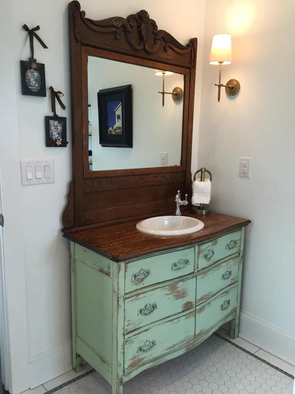bathroom vanity antique rustic from antique dresser 37 to 48 we find restore convert paint and distress country furniture
