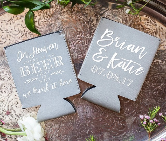 Wedding Reception Favors Weddings Neoprene Personalized Favors In Heaven There Is No Beer Party Favors Funny Wedding Favors