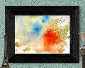 Printable Abstract waterc...