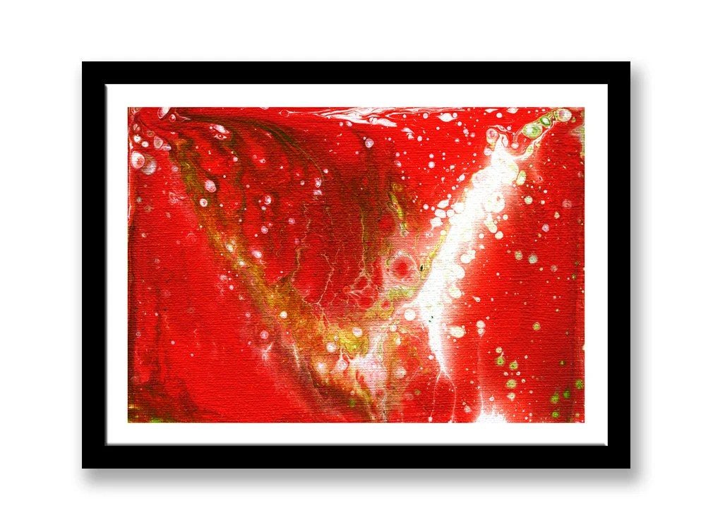 Abstract Red, green and w...