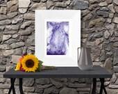 Purple white fluid painti...