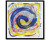 Blue and yellow spiral Ab...