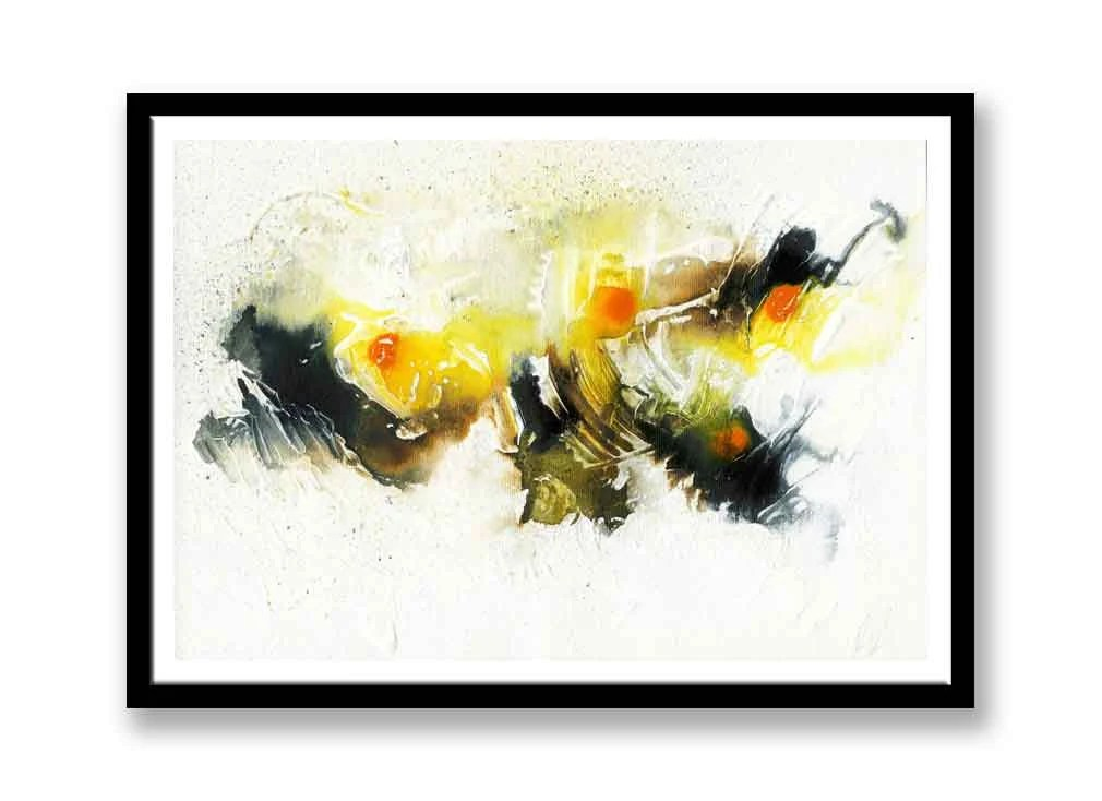 Yellow and black abstract...