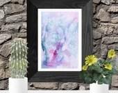 Blue and purple watercolo...