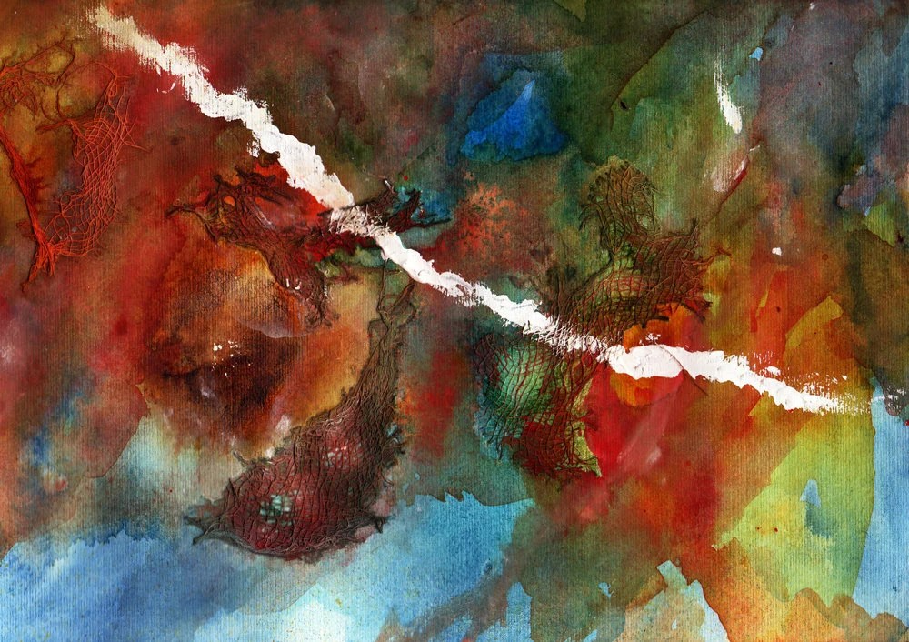 Abstract watercolour pain...
