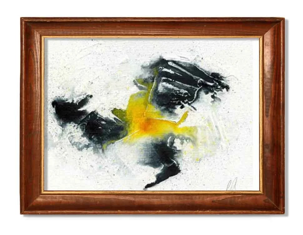 Black and yellow abstract...