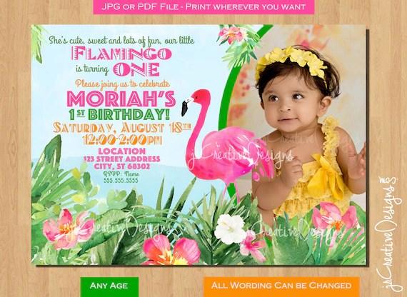 flamingo birthday invitation flamingo
