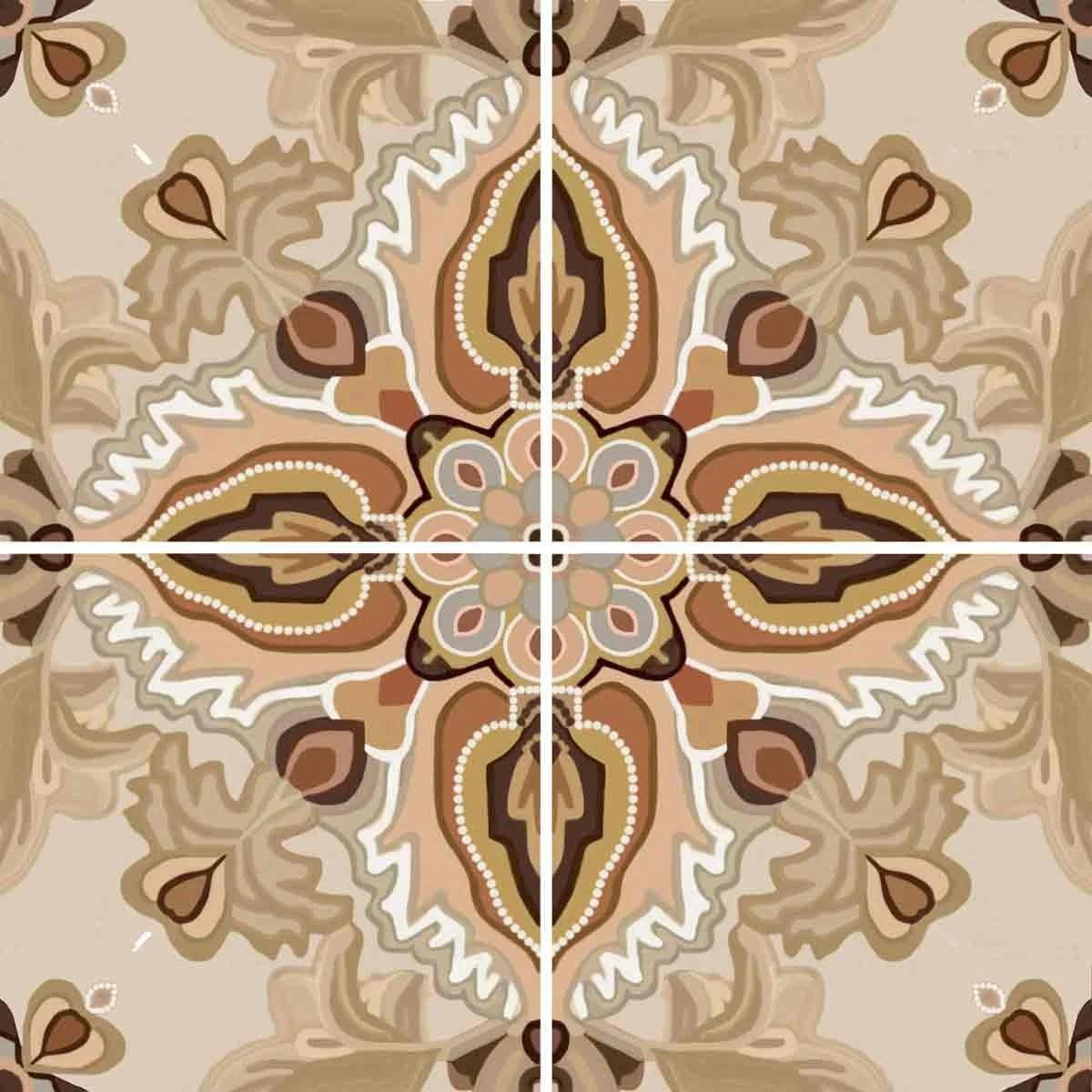ambrosia ceramic decorative tile backsplash 12 inch mural etsy