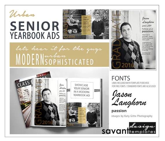 Yearbook Ads Senior Graduation Photoshop Templates Urban Senior Magazine Style High School Yearbook Ad For Senior Photographers