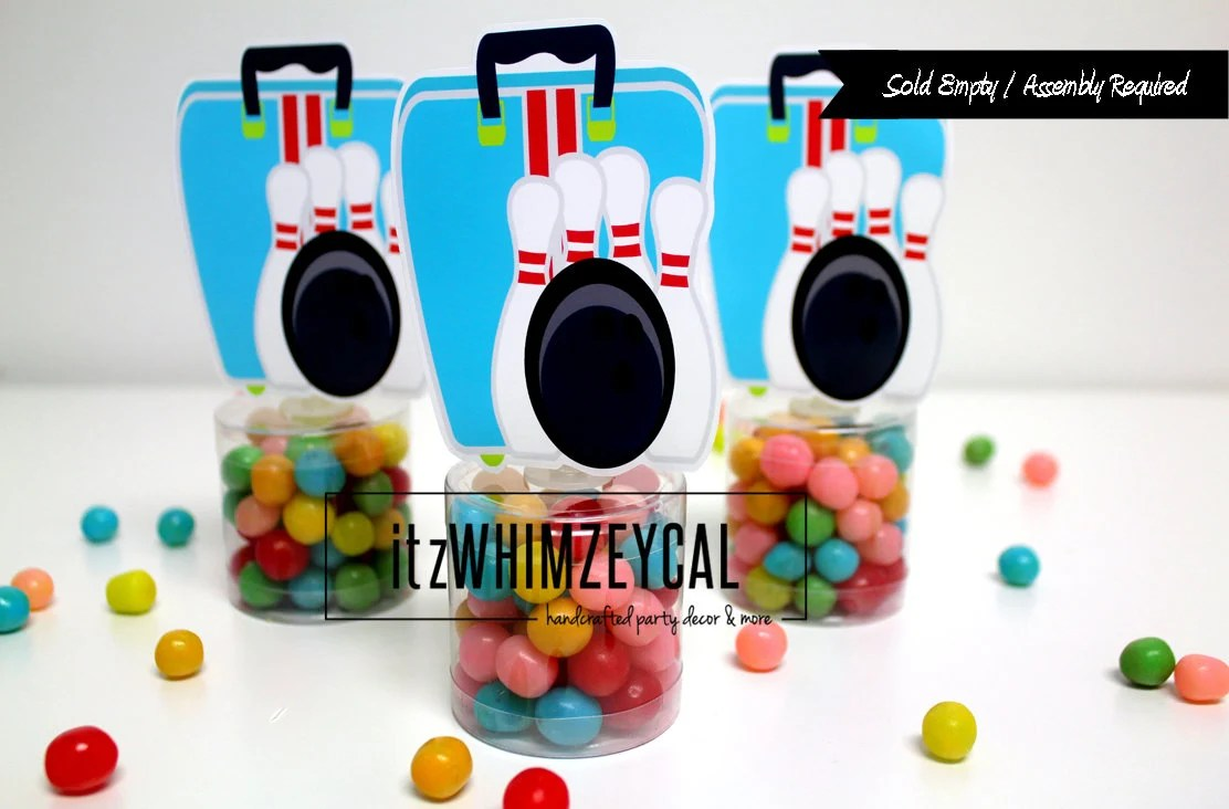 Bowling Bag Party Favors Bowling Party Bowling Party Etsy