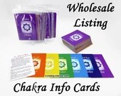 WHOLESALE - 7 Chakra Cards - Quick and Easy Chakra Healing Reference Cards - Ready-to-Ship
