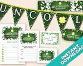 St. Patrick's Day Deluxe Bunco Set, Printable DIY Irish Bunco Set