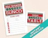 Ugly Sweater Christmas Bunco Set - Ugly Holiday Sweater Bunko