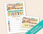 Fiesta Bunco Theme Scorecard and Table Marker Set