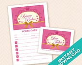 Bunco Babes Theme Scorecard and Table Marker Set
