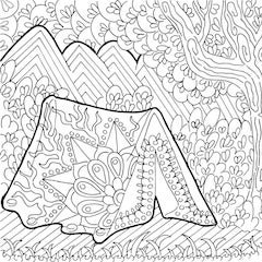 camping coloring page # 30