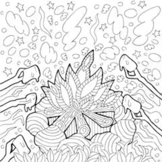 camping coloring page # 7