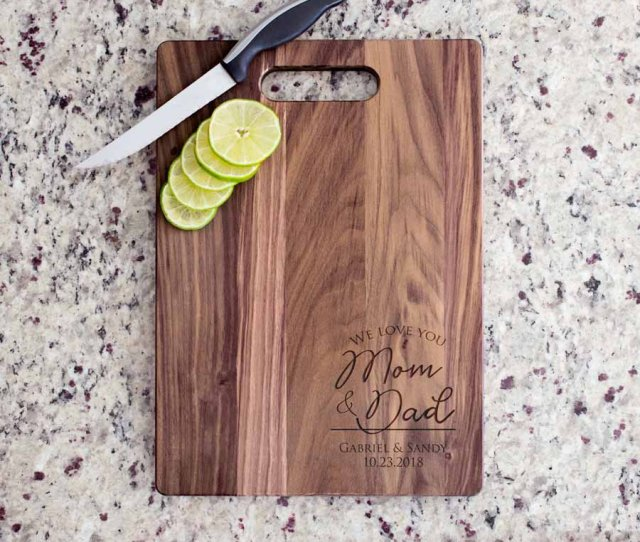 Personalized Parents Of The Bride Groom Cutting Board Personalized Parents Wedding Gift Wedding Gift For Parents Ships Fast