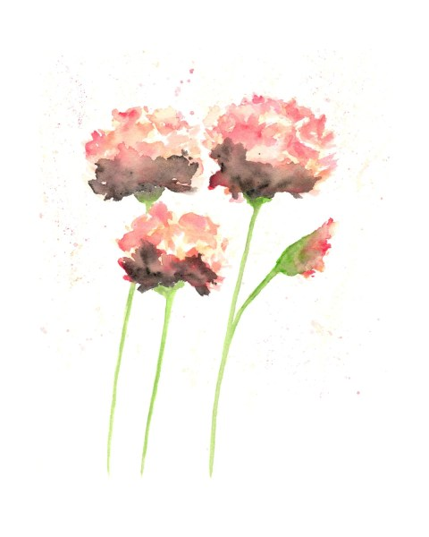 Watercolor flowers french country watercolor painting