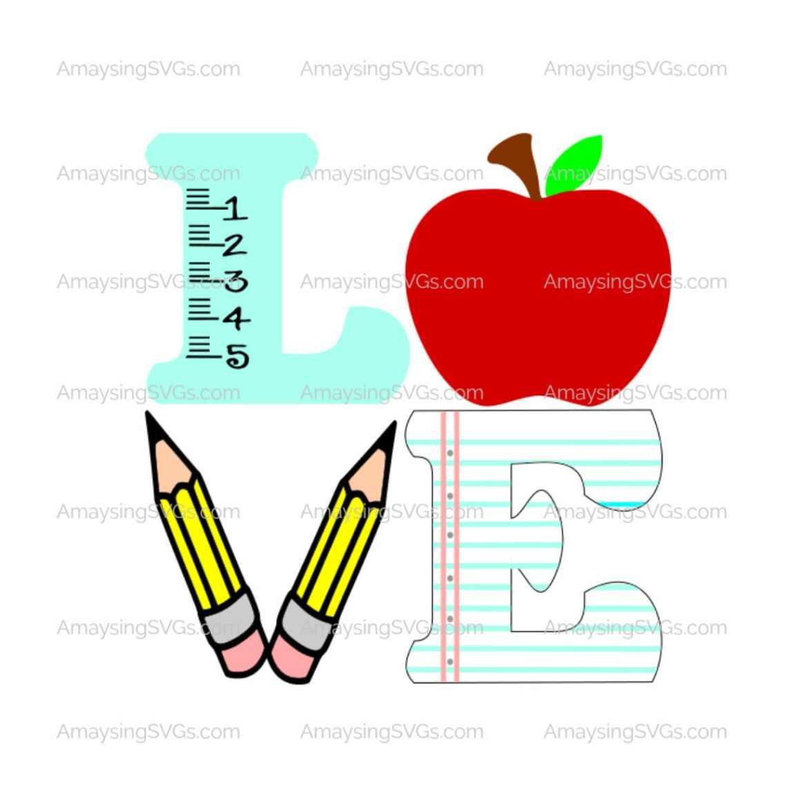 Download Love Teacher svg Teacher Appreciation svg Teacher gift svg ...