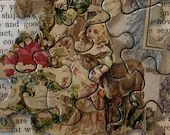 Vintage Puzzle Pieces - Victorian Images - Junk Journals, Smashbooks, Scrapbook, Collage,  Mixed Media, Altered Art - EA53