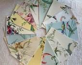 Bundle Fabric Sample Cards - 15 Pieces - Garden Designs - Junk Journals, Mixed Media, Cardmaking - EA24