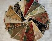 Bundle Fabric Sample Cards - 15 Pieces - Garden Designs - Junk Journals, Mixed Media, Cardmaking - EA26
