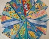 Wallpaper Border Sample Bundle - 10 Pieces - Beach, Fish, Floral Themes - Cardmaking, Journals, Scrapbook, Mixed Media, Altered Art - PA49