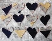 Heart Iron On Sew On Appliques, Modern Quilt Blocks, Set of 12  AC12