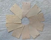 "Embossed Paint Chip Sample Bundle - 3x5.5"" - 10 Pieces- Creamy Peach Shades - Cardmaking, Junk Journals, Collage, Mixed Media - PA30"